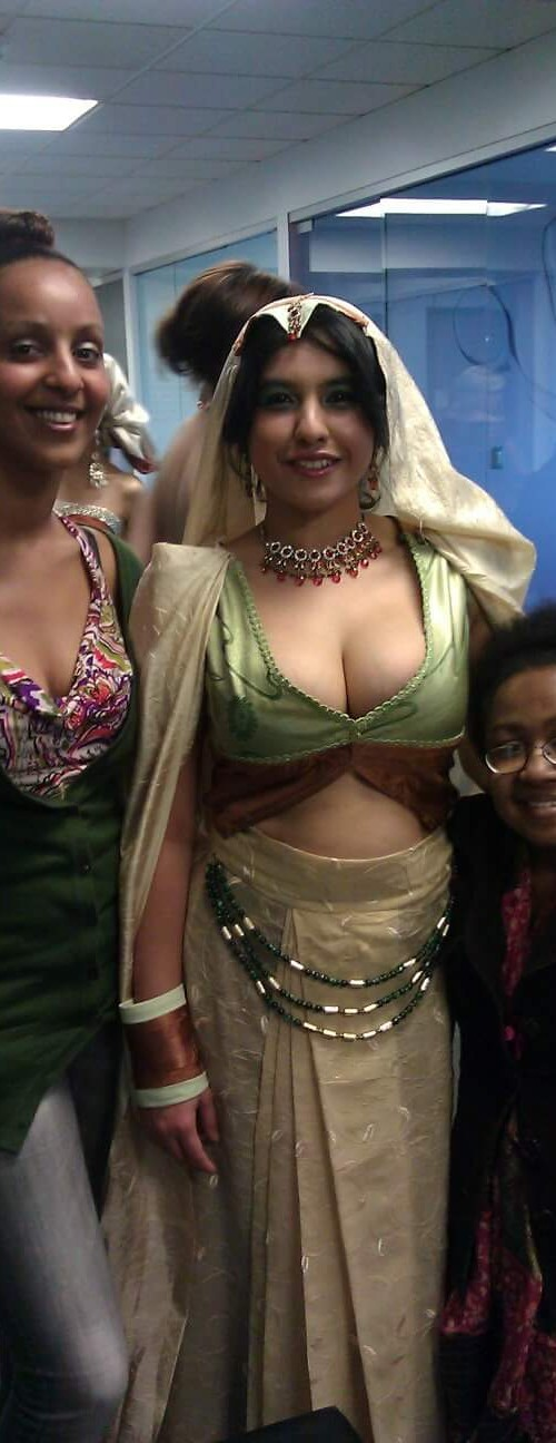 My partner Sumhar Tekkle and I posing with our model for this garment.