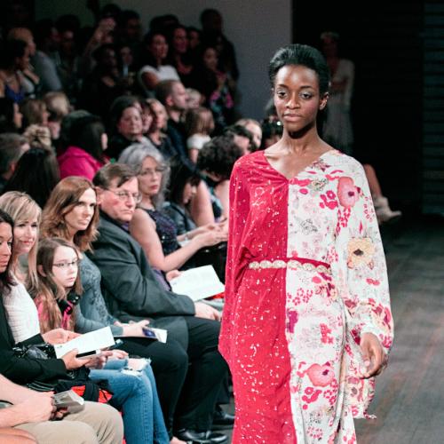 AIS 2015 Fashion Runway District Model Heading down the run way