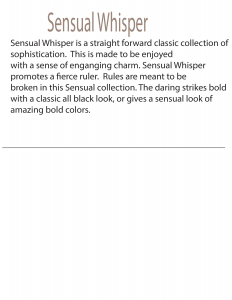 Sensual Whisper Catalogue